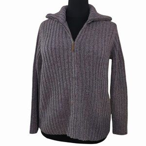 Chartered Club Lavender Purple Zip Up Cable Sweater Cowl Neck NEW Size 3X